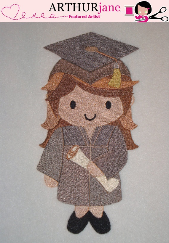 Best graduation embroidery designs images on pinterest