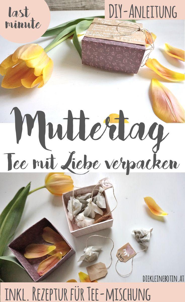 DIY-Idee für alle Mamas, Omas und liebgehabten Menschen! Tee von Hand mischen und abfüllen und mit Liebe verpacken. Schritt für Schritt erklärt, INKL. Tee-Rezeptur