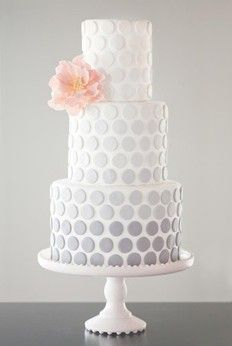 White polka dot wedding cakes...ombré Gray. Love it....for ky