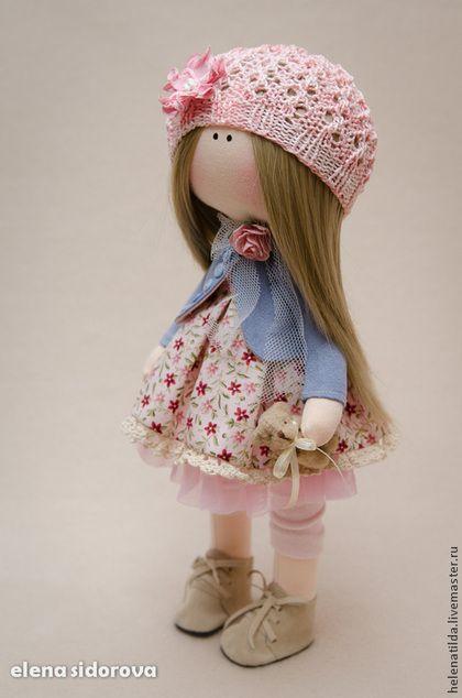 Lilu повтор с изменениями - розовый,кремовый,голубой,кукла,пупс,тексатильная…
