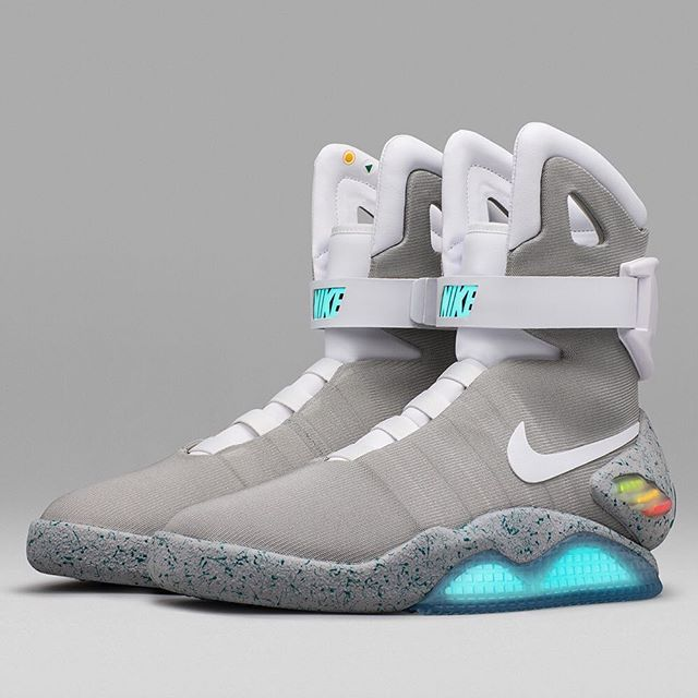 Marty McFly's self-lacing sneakers have become reality. Nike's Mag  self-lacing shoes have been available via raffle.