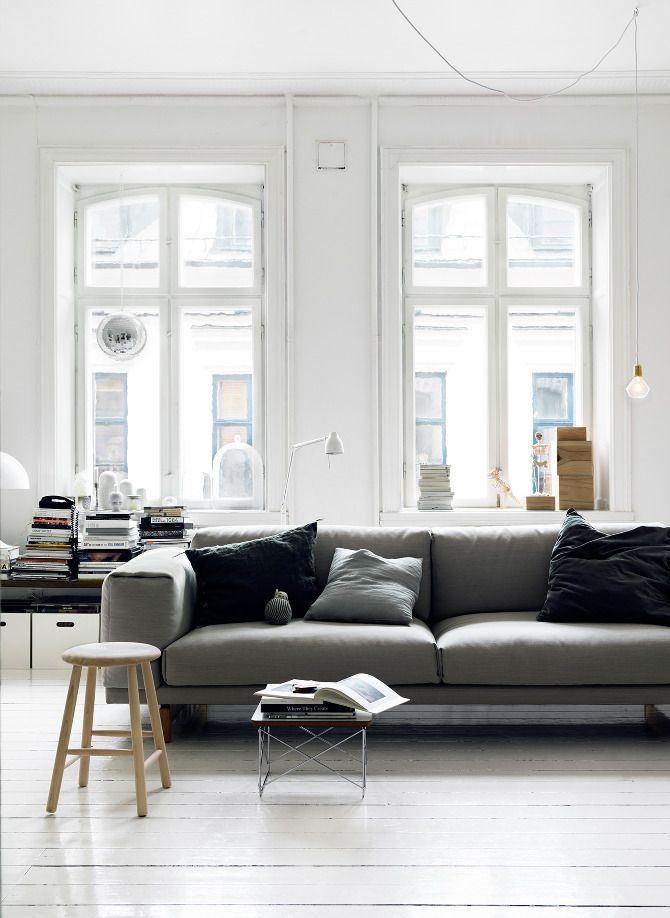 The Scandinavian Side Of Life Photo Grey CouchesLiving SpacesWhite
