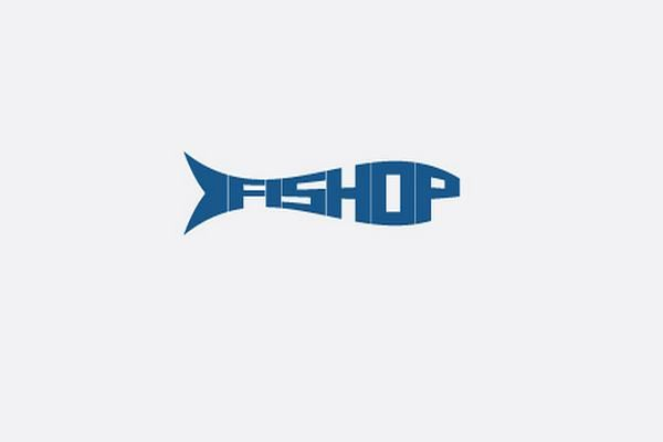 Fishop: Typography is enveloped in fish shape