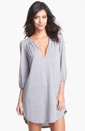 Eberjey 'Heather' Tunic Sleep Shirt | Nordstrom