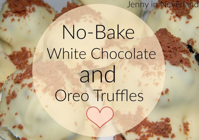 No-Bake White Chocolate and Oreo Truffles