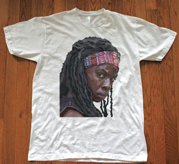 Hey, I found this really awesome Etsy listing at https://www.etsy.com/listing/188531363/michonne-walking-dead-graphic-cotton