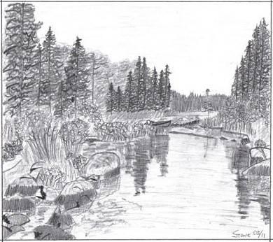 Drawing landscape magic pencil technique