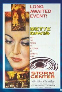 Storm Center (1956): A small-town librarian (Bette Davis!) is branded as a Communist by local politicians when she refuses to withdraw a controversial book from the library's shelves.