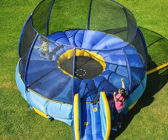 Superdome Trampoline and Bouncer | Make your little one feel the joy of outdoor play with this gigantic trampoline and bouncer