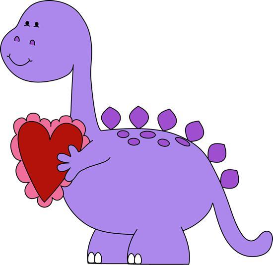 Valentine's Day Dinosaur Clip Art - Valentine's Day Dinosaur Image