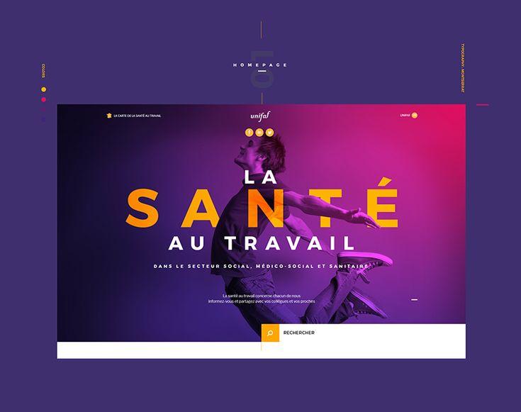 Ознакомьтесь с этим проектом @Behance: «Santé au travail / Website» https://www.behance.net/gallery/61528661/Sant-au-travail-Website