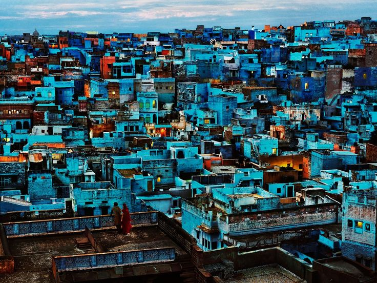 Blue City    Steve McCurry's Blue City photographic series was taken on the edge of the Thar Desert, India, in a place that was once the capital of a princely state – the mystical Jodhpur. Delve into this magical world and these stunning images.