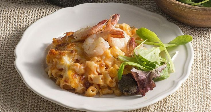 Mac 'n' Cheese με γαρίδες