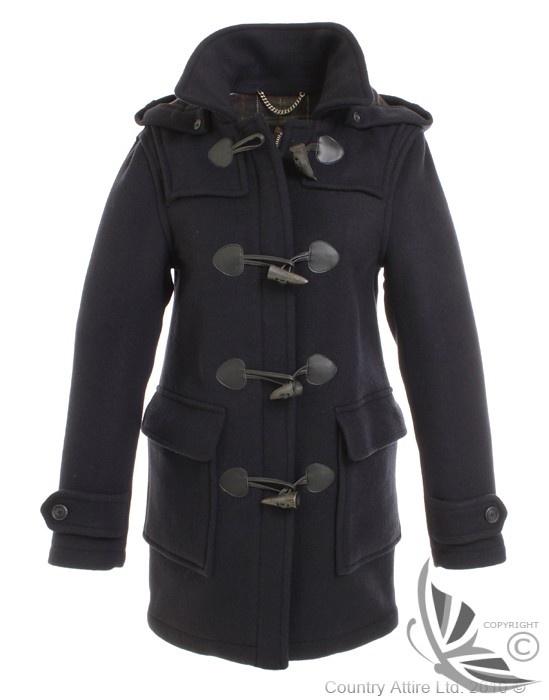 Barbour Ladies Classic Duffle Coat Navy Lwo0002ny71
