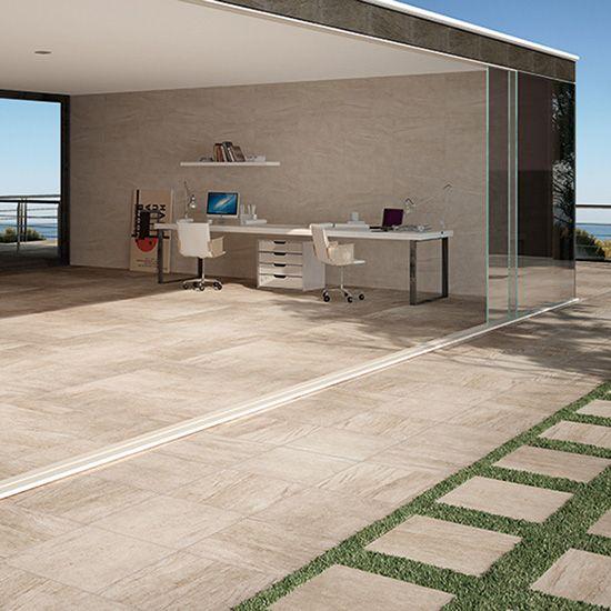 Templeton matt tile in grey.  590mm x 590mm; 280mm x 840mm
