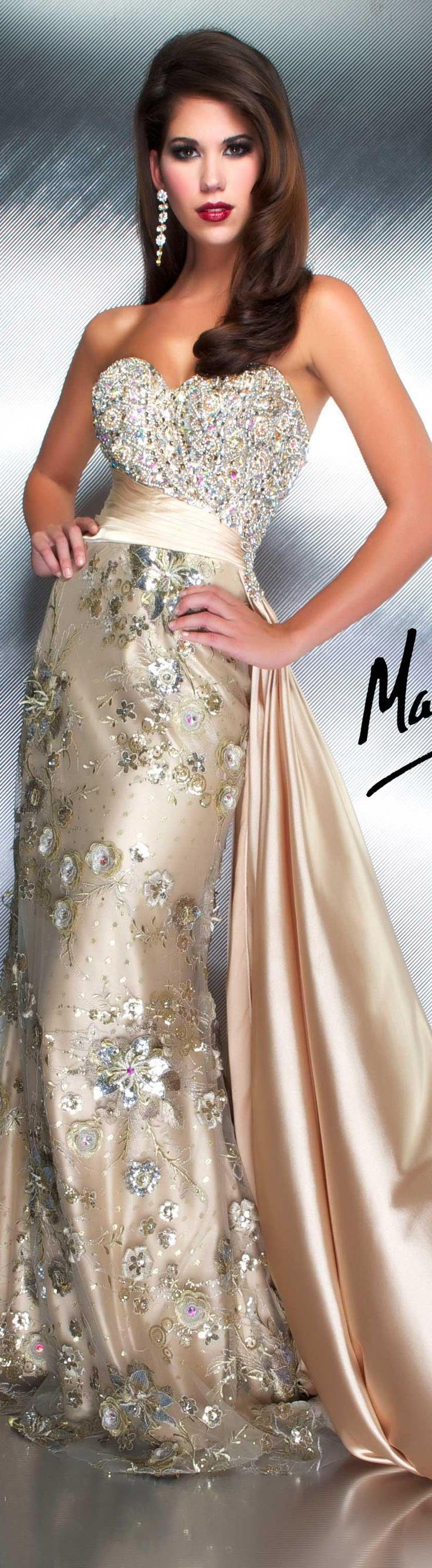 Mac Duggal couture dress gold strapless glitter long ormal dress COUTURE DRESSES  STYLE 78576D