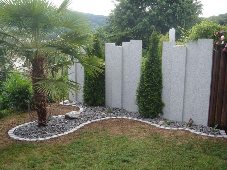 Sichtschutz Granitstelen Terrasse Pinterest Sichtschutz - gartengestaltung modern sichtschutz