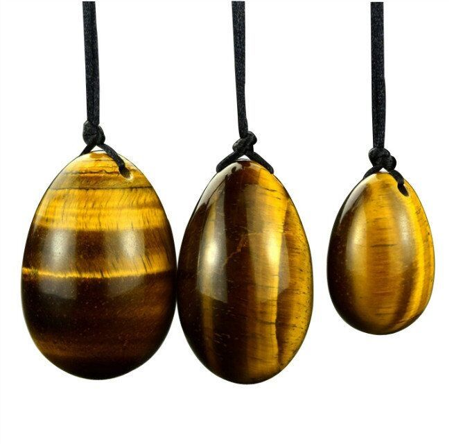 2017New 3Pcs(1set) Natural Xiu Yan Jade Egg For Kegel Exercise Tiger Eye Pelvic Floor Muscle Vaginal Trainer Best Gift For Women