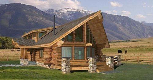 Проект рубленного дома из бревна-The Loveland