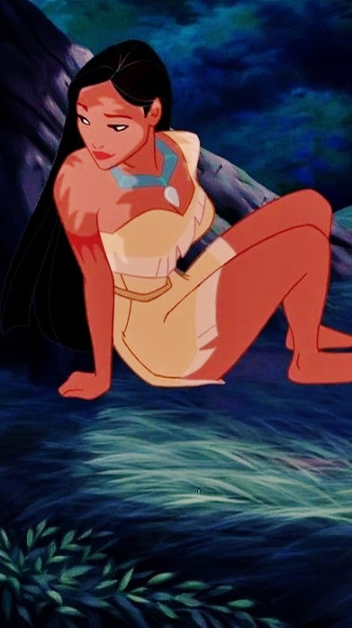 Pocahontas--the baddest and bossest  Disney princess yet. I've wanted to be like this chick since I first saw her. Ugh.