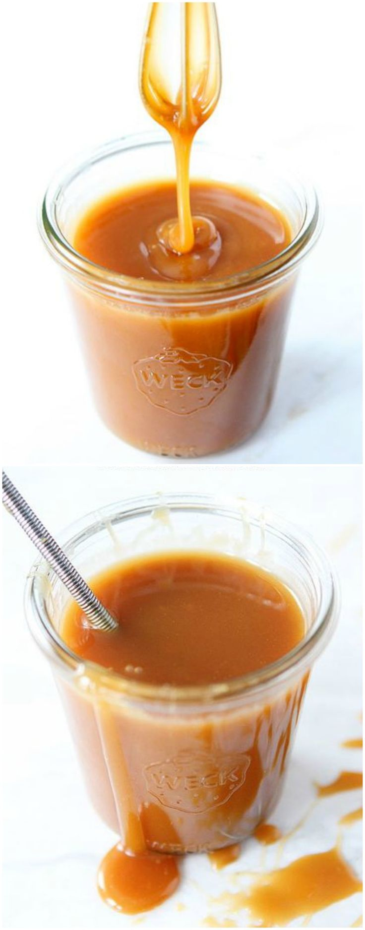 Salted Caramel Sauce Recipe on twopeasandtheirpod.com The BEST caramel sauce and it's easy to make too!