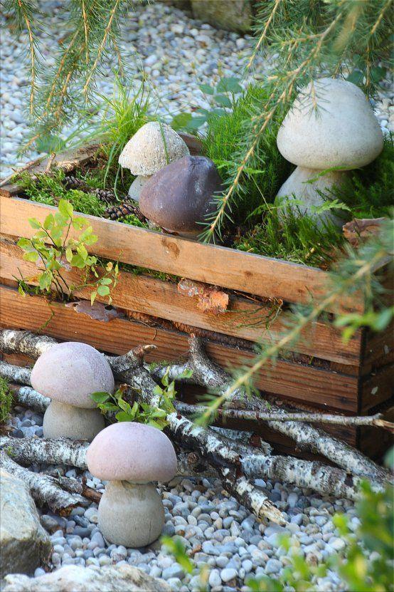 Steinpilze ??? *Betonschwammerl !!!! DIY* Pilze aus Beton DIY (Bildquelle: Living and Green)