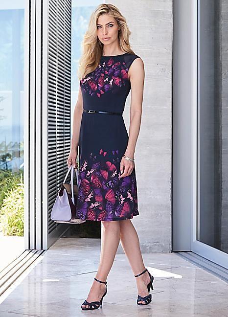 Butterfly Border Dress #Kaleidoscope #Workwear