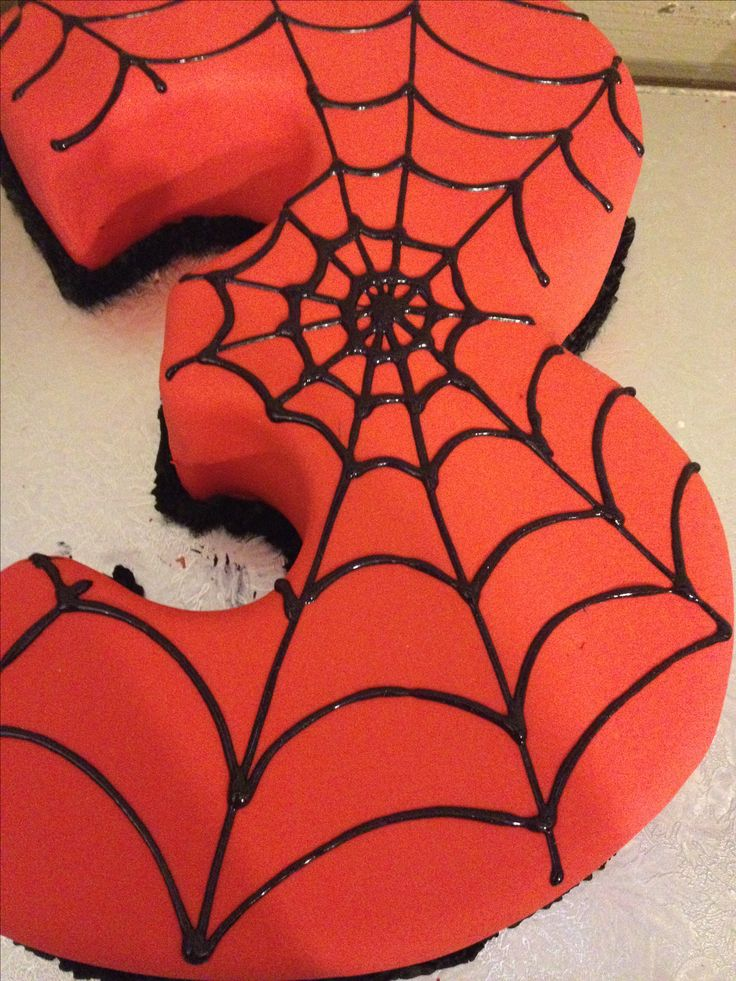 Belle's Spider-Man cake delights a 3 year old.