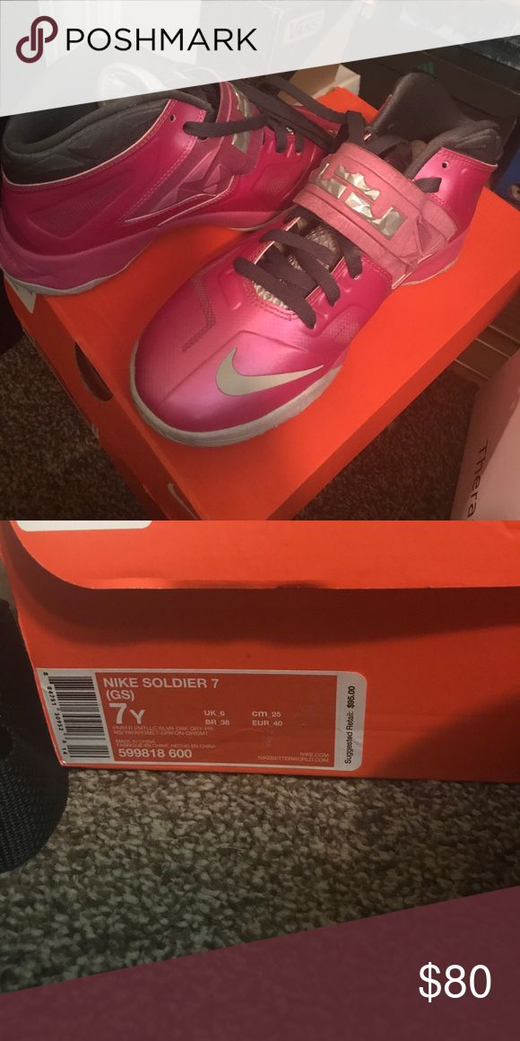 Pink lebrons KIDS SIZE 7Y Pink Lebrons Nike Shoes Sneakers