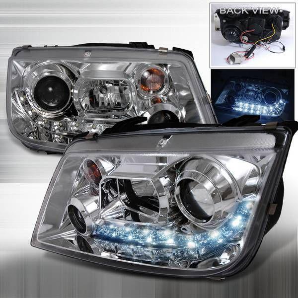 Junyan 99-05 VW Jetta R8 Halo Projector HeadLights -Chrome