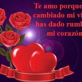 Descargar Imagen Romantica de Corazones y Rosas con Lindas Frases De Amor