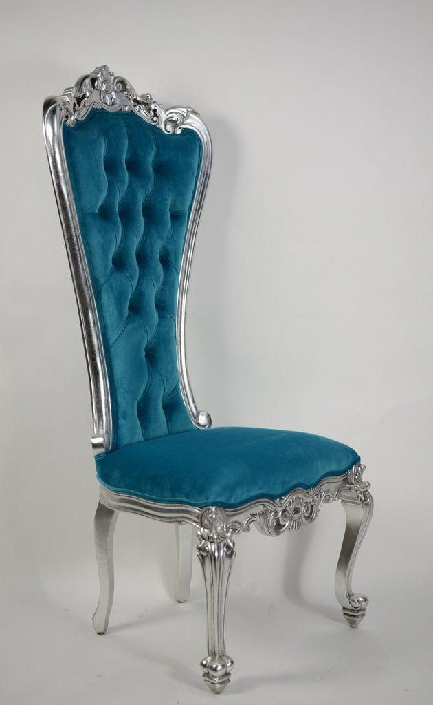 Gryphon Reine Side Chair Silver Amp Turquoise In 2019