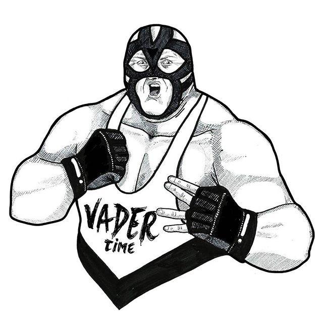 1993: Big Van Vader #inktober 9/31 #drawing #illustration #artwork #wrestling #bigvanvader #wrestlinglegends #brownierea