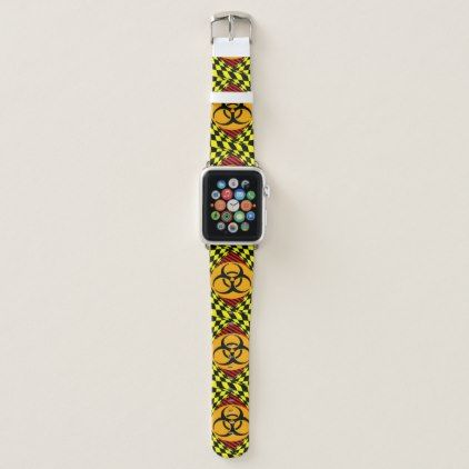Biohazard Design by Kenneth Yoncich Apple Watch Band - red gifts color style cyo diy personalize unique