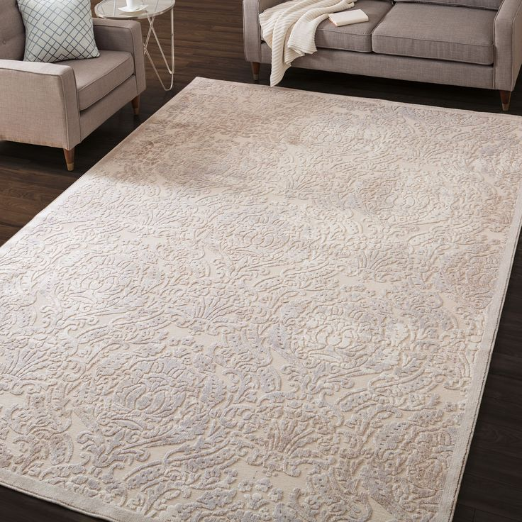 Nourison Graphic Illusions Ivory Antique Damask Pattern Rug (7'9 x 10'10) - Overstock Shopping - Great Deals on Nourison 7x9 - 10x14 Rugs