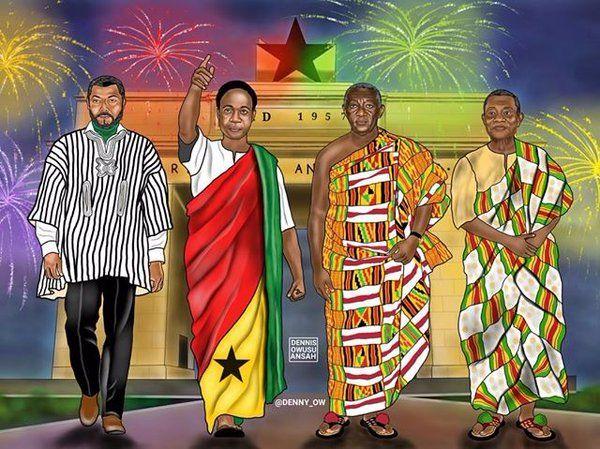 Twitter, the afrofusion spot, ghana, ghanaian, ghana independence, kente, art, gold coast, flag, red gold green