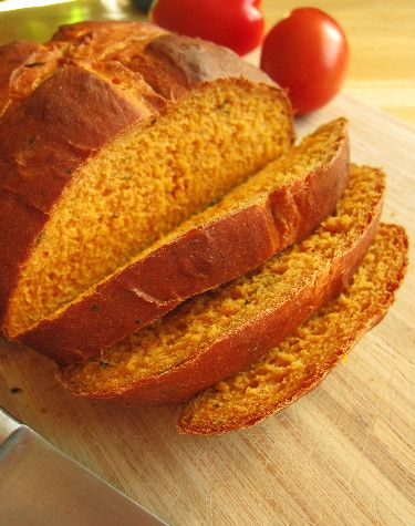 Tomato Basil Bread! This is in my oven right now! I subbed 1/4 vegan parm (walnuts, raw cashews, Nutritional yeast, and salt processed to powder) :D