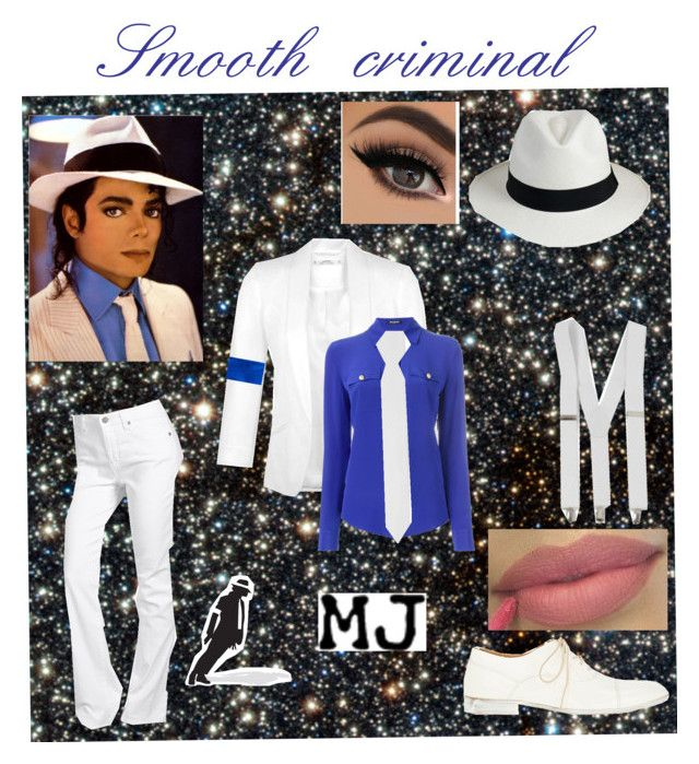"""Smooth criminal"" by icedragonslayer on Polyvore featuring Miraclebody Jeans by Miraclesuit, Miss Selfridge, Balmain, Maison Margiela, COSTUME NATIONAL, michaeljackson, MJ and smooth"