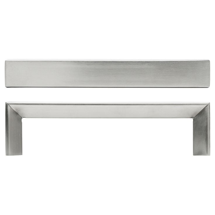 """IKEA - TYDA, Handle, 5 7/16 """", , These brushed stainless-steel handles add a modern look to your kitchen."""