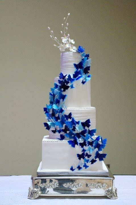 wedding cake - butterflies