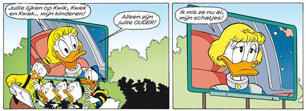 Dumbella Duck Moeder Van Kwik Kwek En Kwak Testpiloot Voor