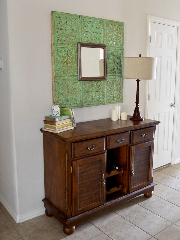 Cwts upcycle entry make a mirror out of tin ceiling tiles for No broker fee apartments nyc