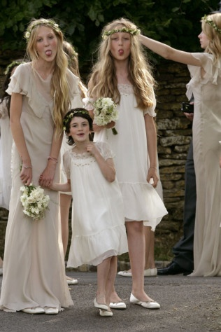 Kate Moss's bridesmaids. Does anybody know where the cute dress on the left is from?
