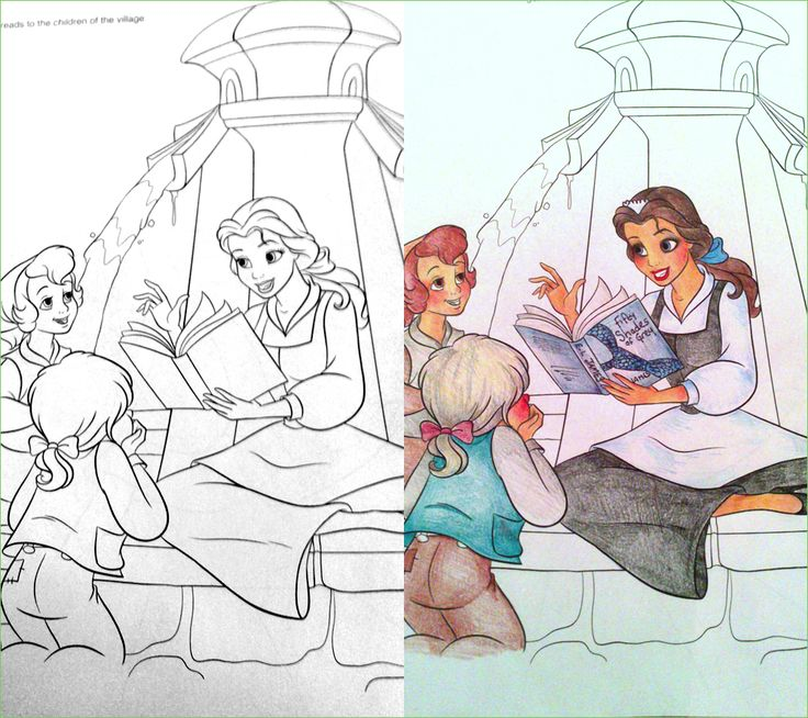 Coloring Book Corruption Belle Reads 50 Shades To Kids