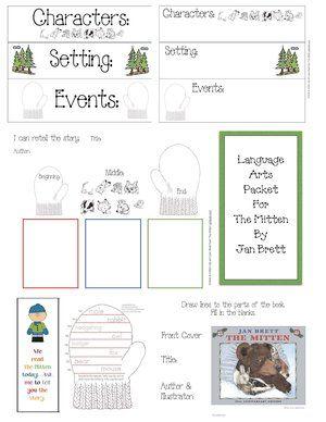 FREE literacy packet for The Mitten. Graphics c jan brett from janbrett.com