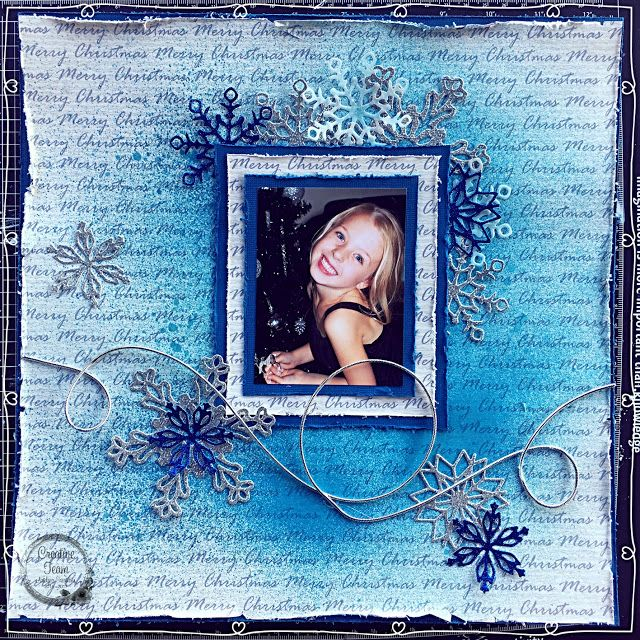 Artdeco Creations Brands: Quick Christmas Layout by Tracey Cooley