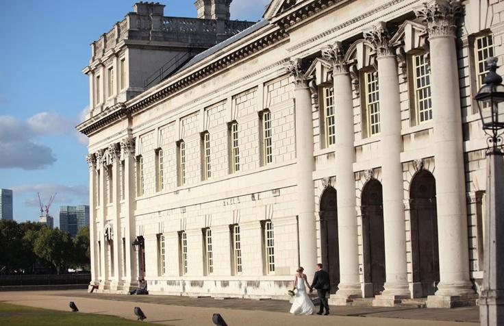 Wedding Photography outside the Old Royal Naval College #weddingvenue #londonvenue