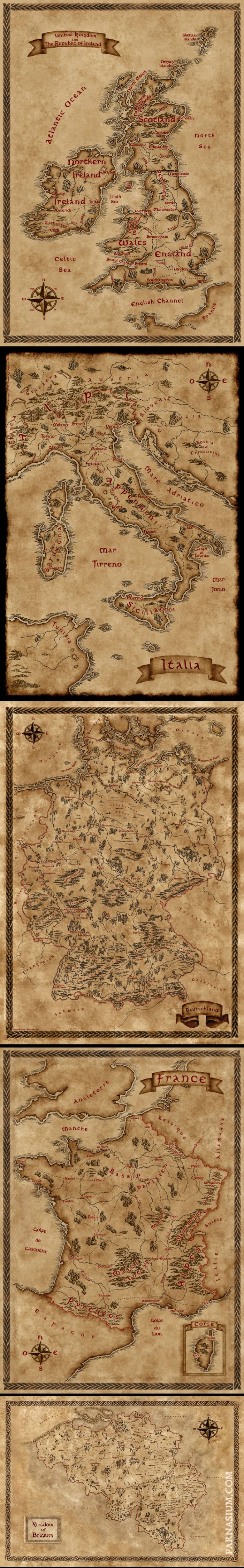 Seattle Map Funny%0A Fantasy inspired maps of some European countries