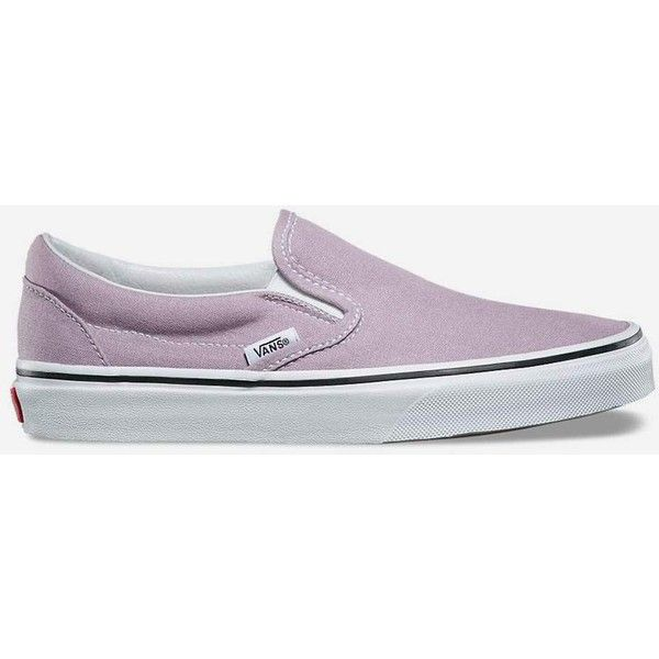 Vans Classic Slip-On Shoes ($50) ❤ liked on Polyvore featuring shoes, boat shoes, vans topsiders, slip on deck shoes, pull on shoes and rubber deck shoes
