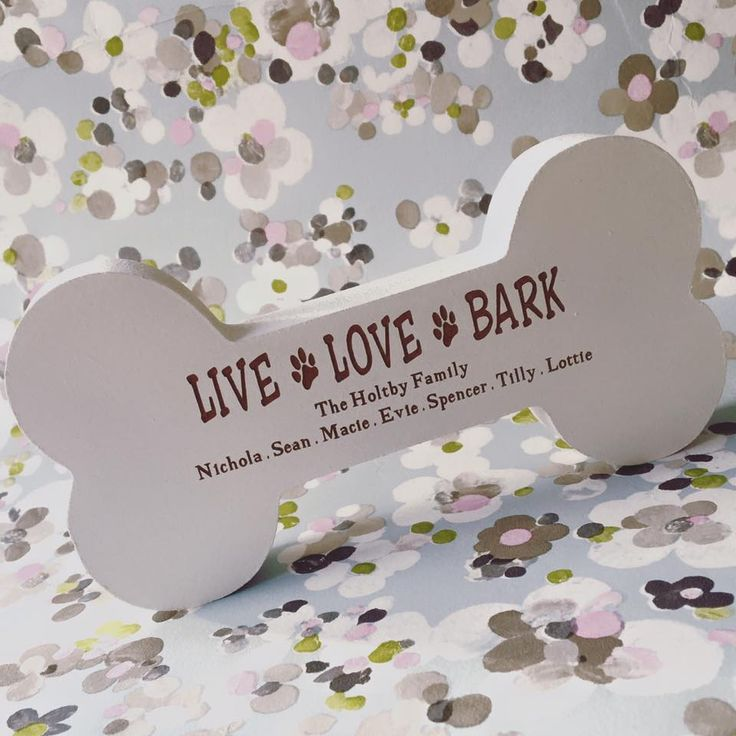 Live Love Bark Freestanding Bone
